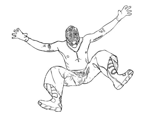 free printable wwe coloring pages kids