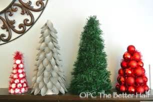 christmas crafts make decorative trees four different