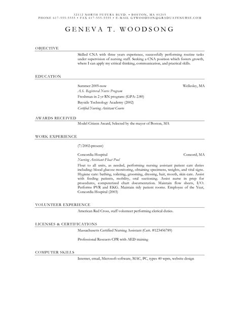 Cna Ii Sle Resume Sle Resume Objective Statements 28 Images Security Officer Resumes Sales Officer Lewesmr