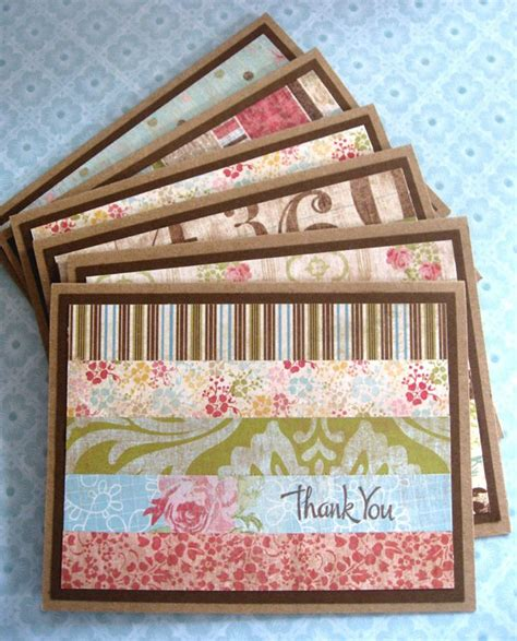 Easy Handmade Thank You Cards - set of handmade thank you cards great way to use up