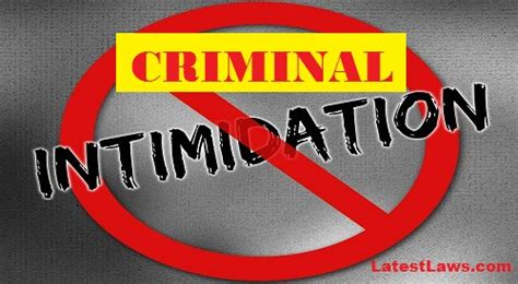 What Is Section 506 Of Ipc by Section 506 Ipc Criminal Intimidation Question Of