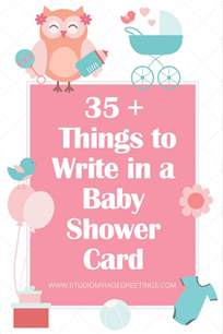 what to say on a baby shower card