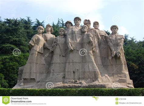 yang dapeng remembrance of a martyr in nanjing 1937 books statues of martyrs yuhuatai nanjing china royalty free
