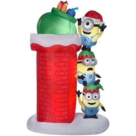 minion christmas decorations airblown self minions climbing wall walmart ca