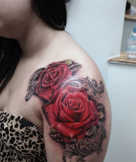 red rose tattoo images shoulder tattoos for www pixshark