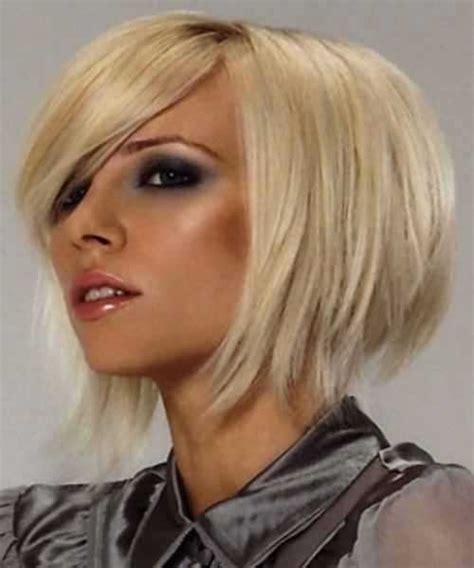 cute layered short blonde bob hairstyle with bangs 10 medium bob cuts bob hairstyles 2017 short