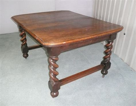 antique barley twist table and a victorian oak barley twist dining table antiques atlas