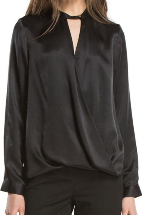 draped silk blouse andb draped silk blouse from new jersey by alba shoptiques