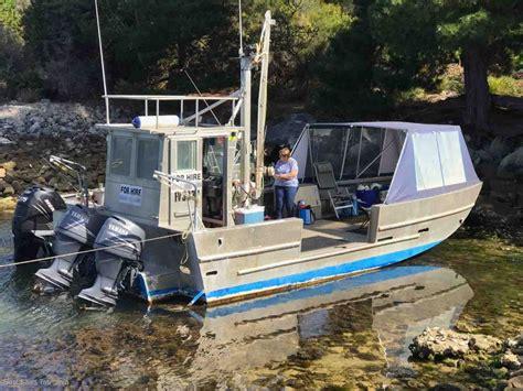 aluminum boats tasmania 8m aluminium work barge pms commercial vessels boat