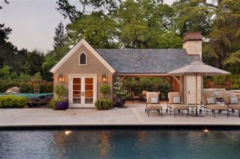 pool house guest house plans home design and style