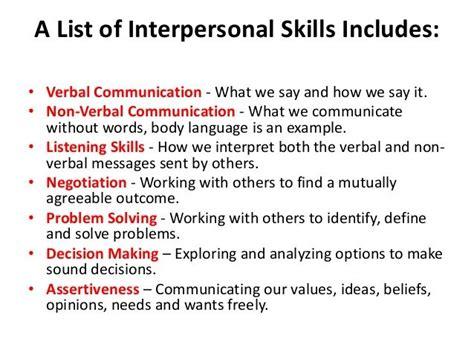 skills in interpersonal relationships autism