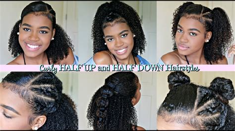 half up half down hairstyles on natural hair half up half down hairstyles for natural and curly hair