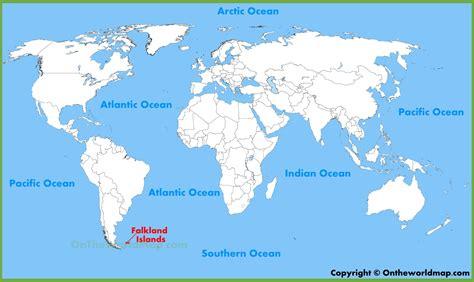 falkland islands on map falkland islands location on the world map