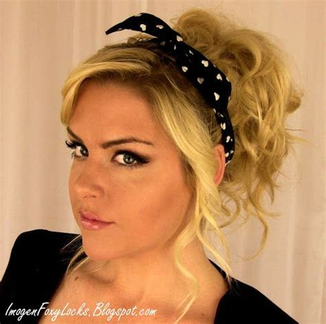 headband casual hairstyles 50s pin up hairstyles with bandana clothes pinterest