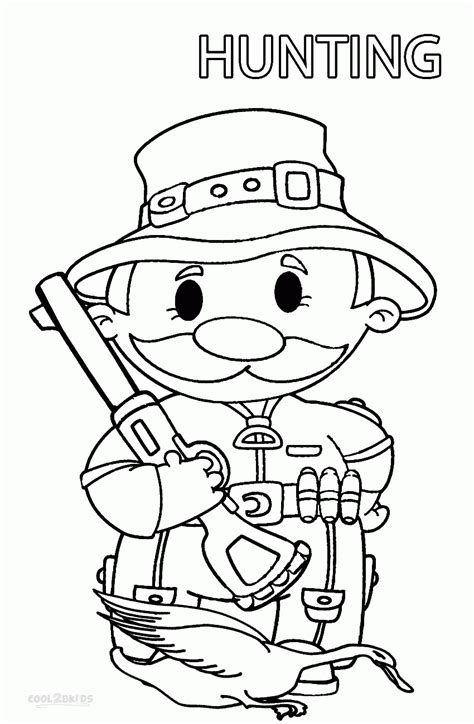 turkey hunting coloring page free kids hunting coloring page az coloring pages