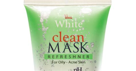Viva White Clean Mask Refreshner For All Skin Types s a y h a l l o w review viva white clean mask