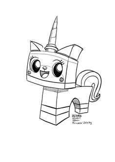 coloring page  kids lego unikitty httpletsdrawkids