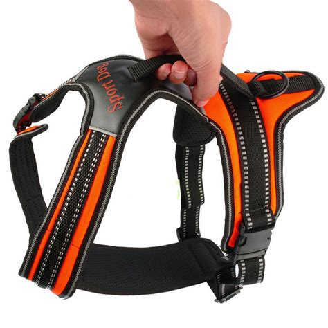 heavy duty harness heavy duty padded pet harness large medium small soft vest collar as ebay