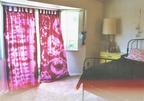 diy tie dye curtains bedroom via instagram thedoeorthedeer bohemian eclectic