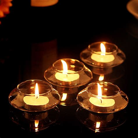 lilin tealight candle free shipping 5 x transparent floating glass candle holder