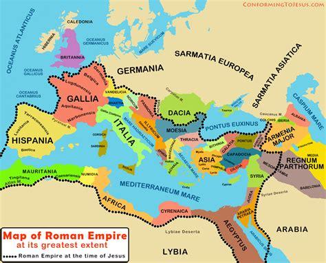 map  roman empire   time  jesus   greatest