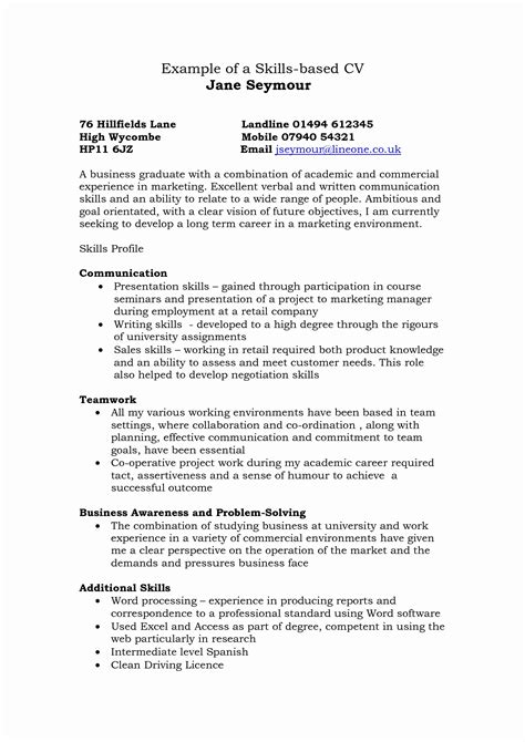 skill based resume template 15 fresh skills based resume template resume sle