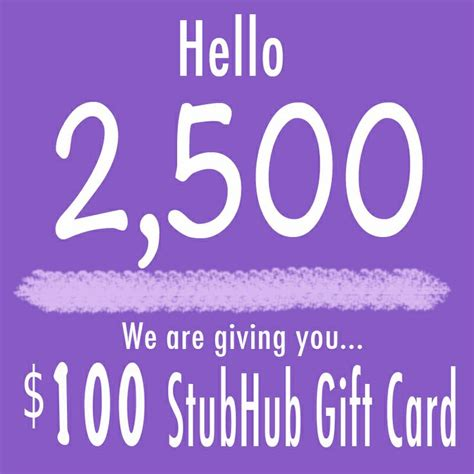 Stubhub Gift Card - like attachapack on instagram attachabkpks and number 2 500 could win 100 stubhub