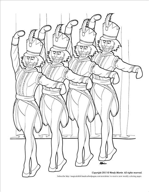 free nutcracker coloring pages to print nutcracker ballet coloring page coloring home