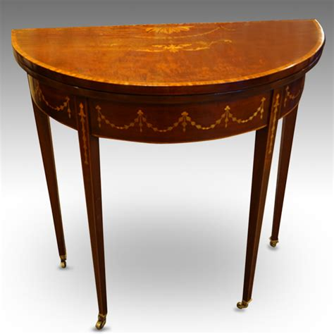 Small Card Table by Edwardian Small Demi Lune Card Table Now Sold Hingstons