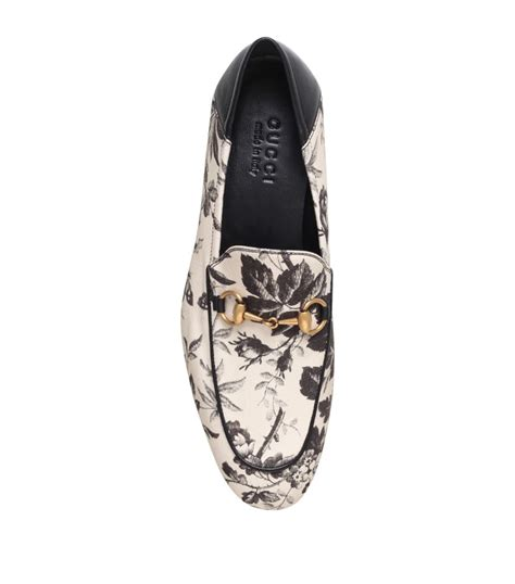gucci floral loafers gucci brixton floral loafer for lyst