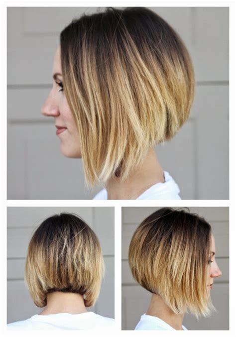 short cut all hair coming foward short angled ombre bob from all sides lovely locks