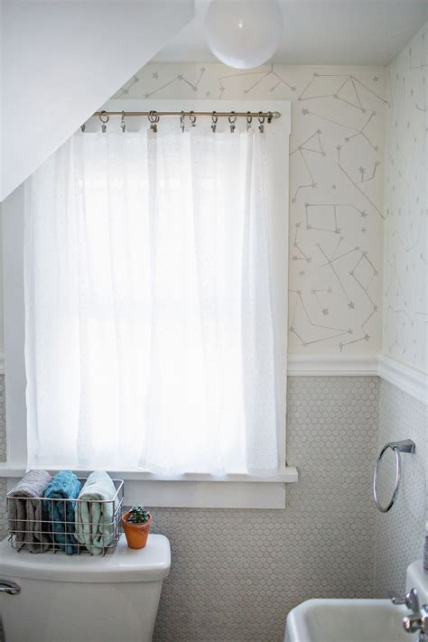 how to make bathroom curtains easy no sew curtains a beautiful mess