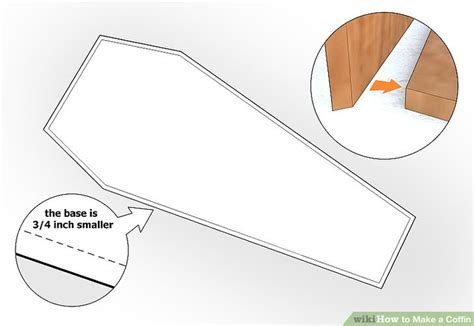 How To Make A Paper Coffin - how to make a coffin 9 steps with pictures wikihow
