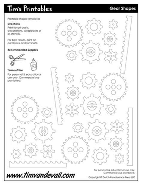 printable gear templates gear templates