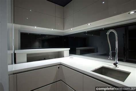 disappearing sleek and polish kitchen design calyx from linak australia multi functional kitchen technology