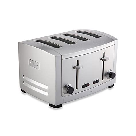 toaster bathtub all clad 4 slice die cast stainless steel toaster bed