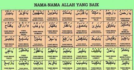 Kartu Belajar Asmaul Husna islam itu indah dan rahmat asma ul husna