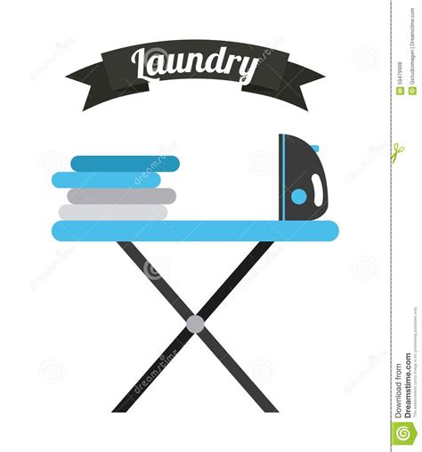 laundry graphic design laundry service stock vector image 59479908