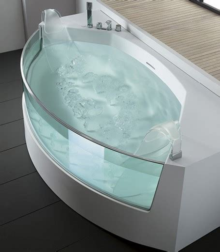 bathtub with glass curved bathtub bathware