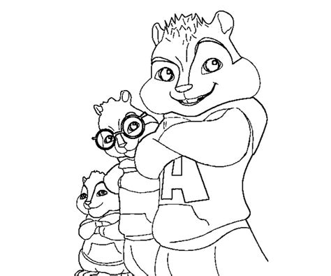 free coloring pages of alvin and the chipmunks