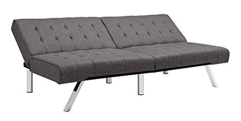 emily futon vanilla dhp emily futon sofa bed modern convertible couch with