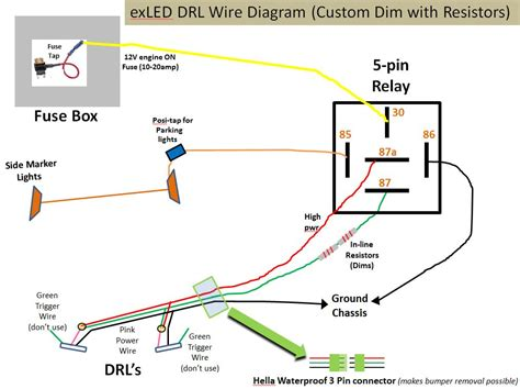 led drl wiring diagram contohsoal co