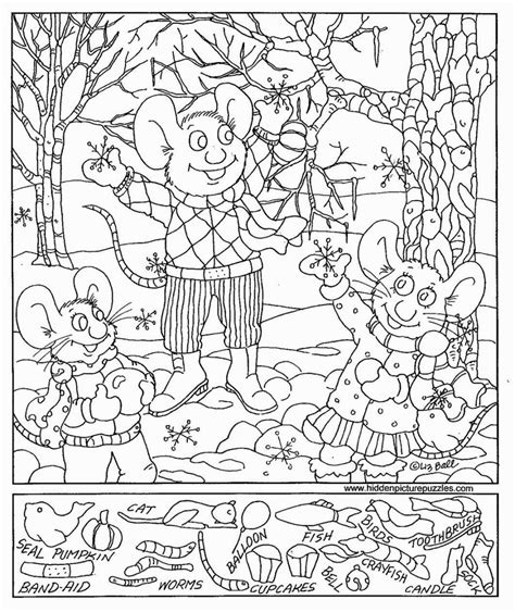 printable hidden pictures adults hidden object coloring pages coloring pages pinterest