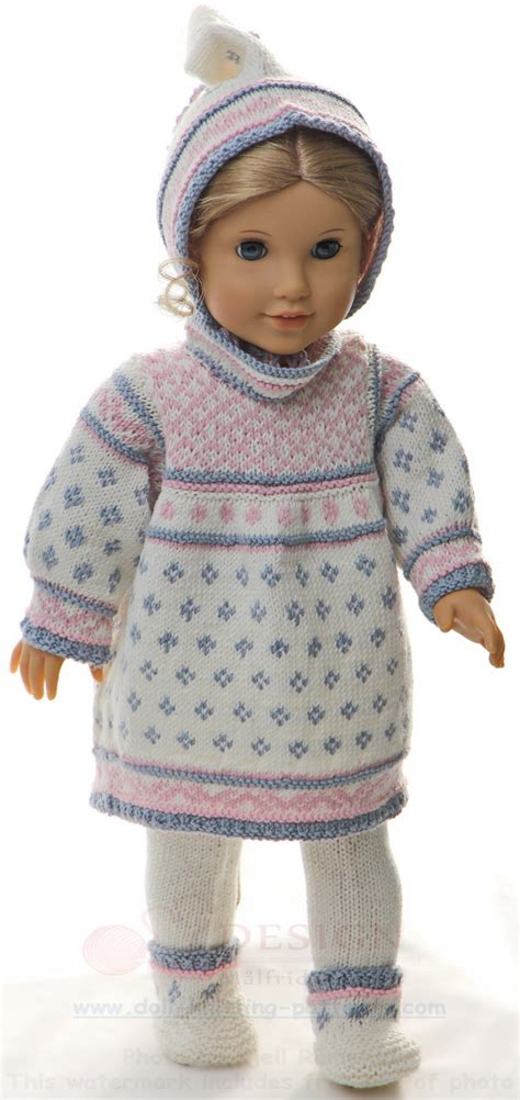 fashion doll knitting patterns american doll knitted dress patterns sweater vest