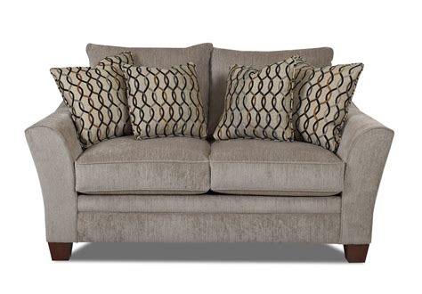 old brick recliners klaussner posen contemporary loveseat old brick