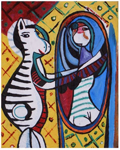 picasso paintings of animals monday artday picasso s in the mirror the redo