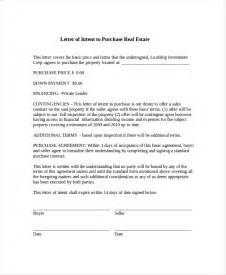 real estate letter of intent template 15 letter of intent template free sle exle