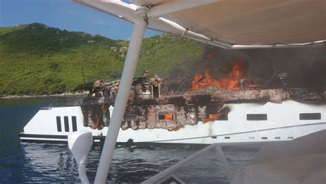 yacht kanga 40 metre superyacht kanga almost destroyed in fire yacht