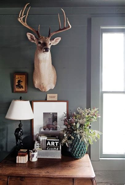 Home Interior Deer Pictures Bungalow Blue Interiors Home Putman S Cozy Country Farmhouse