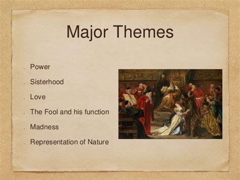 themes in king lear a level king lear